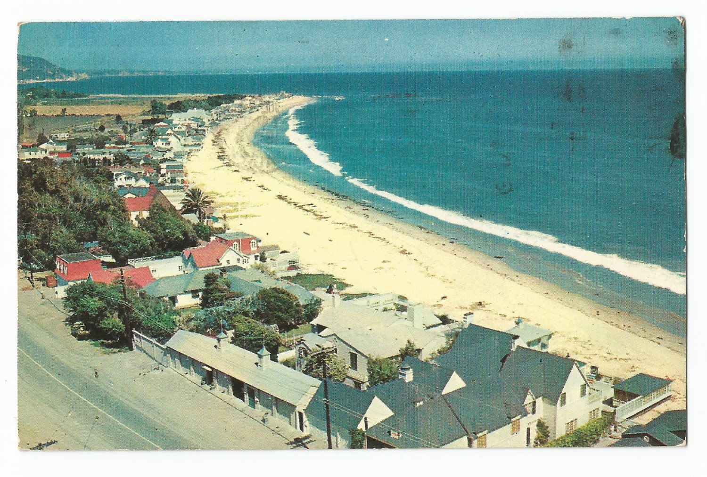 "Malibu ""Beach Colony"" California 1957 postcard"