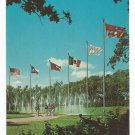 Dancing Waters and Flags Six Flags Over Texas Postcard