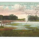 Bachman's Dam Dallas Texas Postcard 1909