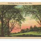 Greetings from Broken Bow, Oklahoma Postcard