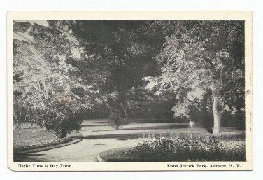 Enna Jettick Park Auburn New York Black & White Postcard