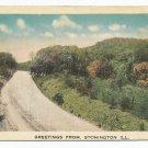Greetings From Stonington Illinois Postcard 1918