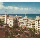 Moana and Surf Rider Hotels Waikiki 1960s Hawaii Postcard