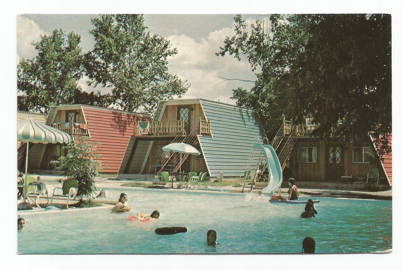 Heidelberg Lodges New Braunfels Texas Postcard