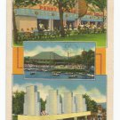 Penny Arcade and Island Stage Kennywood Park Pittsburgh PA Linen Postcard