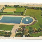 Baker Hotel Garden and Pool Mineral Wells Texas Linen Postcard