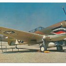 Curtiss P-40N Warhawk Fighter Aircraft Postcard