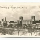 University of Chicago From Midway Black & White Photo Postcard 1947