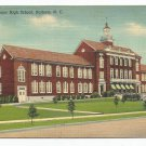 Senior High School Durham North Carolina Linen Postcard
