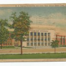 W. K. Kellogg Auditorium and Jr High Battle Creek Michigan Linen Postcard
