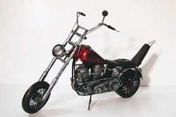 SimpleYears Red flame chopper motorcycle pan head  JL191-2