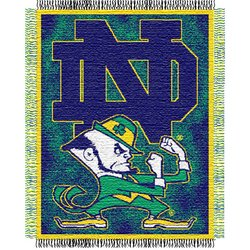 Notre Dame Fighting Irish Triple Woven Jacquard NCAA Throw  Nor5NDIrish-019Series