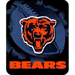 Chicago Bears Royal Plush Raschel NFL Blanket   Nor1Chi-703Burst