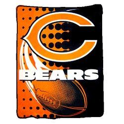 Chicago Bears Royal Plush Raschel NFL Blanket   Nor1Chi-800Flash