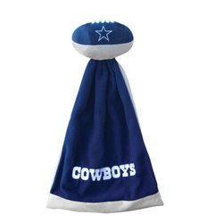 Dallas Cowboys Plush NFL Football with Attached Security Blanket   CSW1-Dal-SnuggleBall