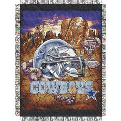 Dallas Cowboys Woven Tapestry NFL Throw   Nor1Dal-051HFA