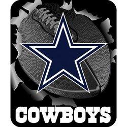 Dallas Cowboys Royal Plush Raschel NFL Blanket   Nor1Dal-703Burst