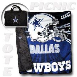 "Dallas Cowboys ""Tote A Long"" NFL Picnic Blanket    Nor1Dal-176PicnicTote"