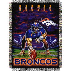 Denver Broncos Triple Woven Tapestry NFL Throw    Nor1Den-051TPS