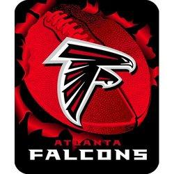Atlanta Falcons Royal Plush Raschel NFL Blanket   Nor1Atl-703Burst