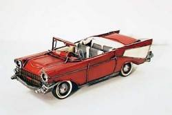 SimpleYears 57 Chevy. Red & white convertible  JL264