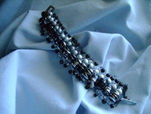 Racy Black Stripes Bracelet