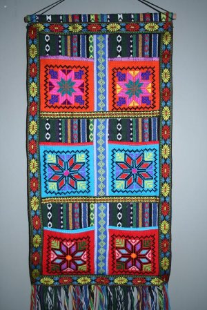 Brightly colored Wall Hanging of Chinese Ethnic Minority
