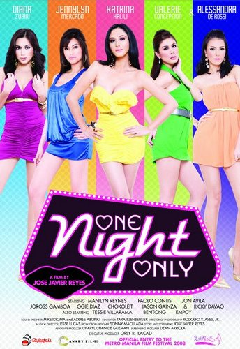 One Night Only MOVIE Filipino Tagalog DVD Katrina Halili