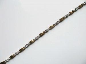 White and Yellow Gold Diamond Bracelet 2