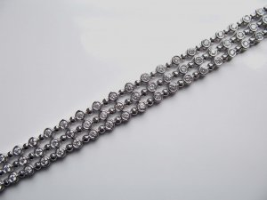 Elegant Three Row Diamond Bracelet