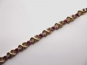 Two-Toned Diamond and Ruby Bracelet