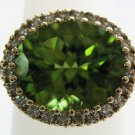 Oval-Shaped Peridot Ring