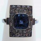 Unique Sapphire Ring with Diamonds