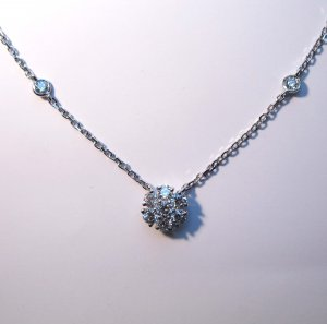 Small Diamond Cluster Necklace