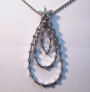 Tear Drop Diamond Pendant