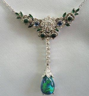 Black Opal Necklace