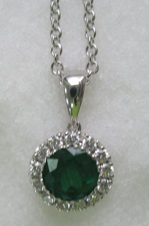 Round Emerald Pendant