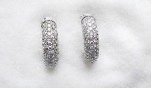 Diamond Hoop Earrings 1