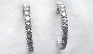 Diamond Hoop Earrings 2