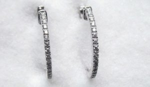 Diamond Hoop Earrings 4