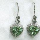 Green Garnet Heart Earrings