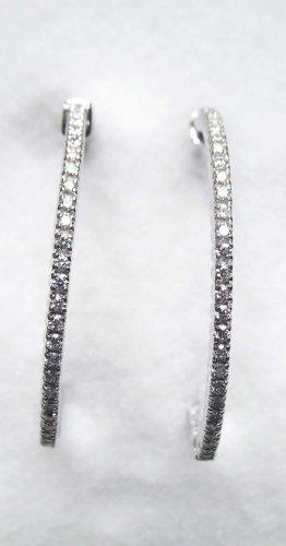 Diamond Hoop Earrings 5