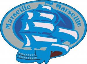 Marseille Passport Style Wall Graphic