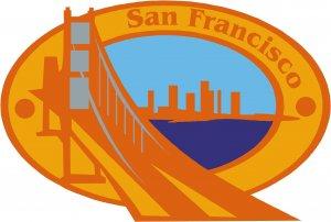 San Francisco Passport Style Wall Graphic
