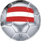 Austria Soccer Ball Flag Wall Decal