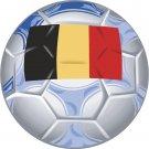 Belgium Soccer Ball Flag Wall Decal