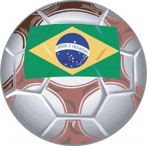Brazil Soccer Ball Flag Wall Decal