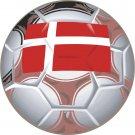 Denmark Soccer Ball Flag Wall Decal