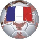 France Soccer Ball Flag Wall Decal