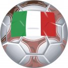 Italy Soccer Ball Flag Wall Decal
